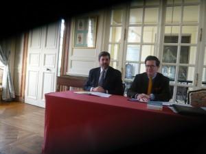 Luiz de Azevedo Vasconcellos e Souza (Portugal) et Jacques Perot, président de l'AFPAP